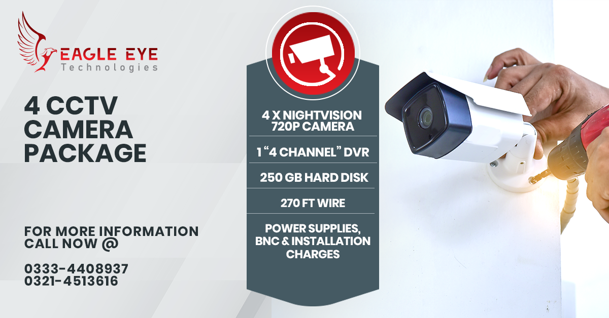 4 CCTV Camera Package