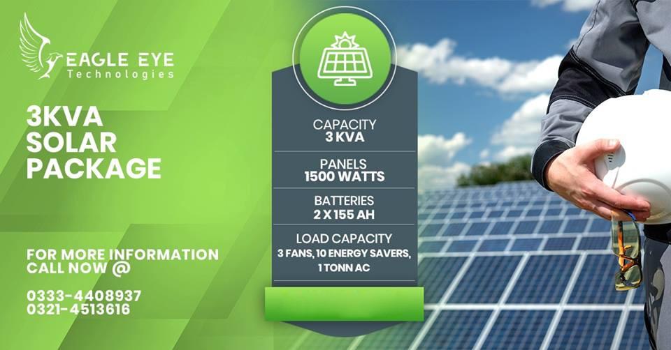 3 KW Solar System Price Lahore