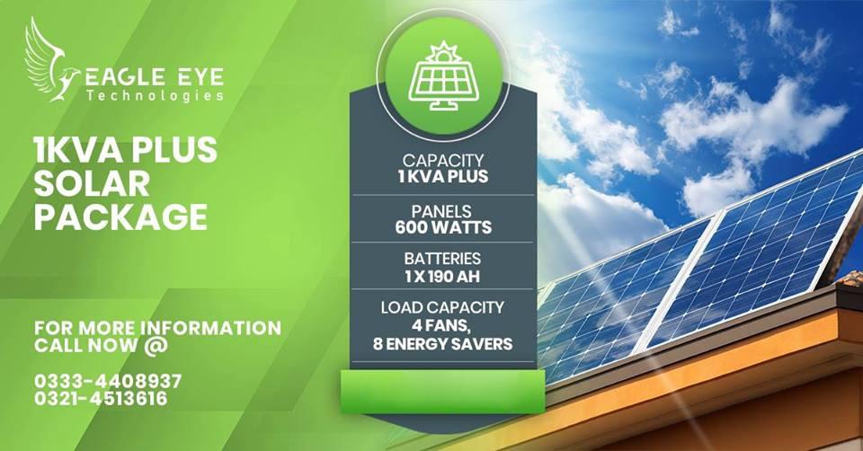 1 KW Plus Solar System Lahore Islamabad Pakistan