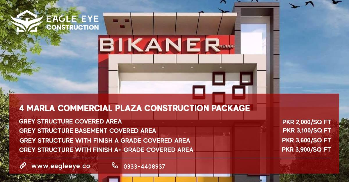 4 marla commercial plaza design and cost