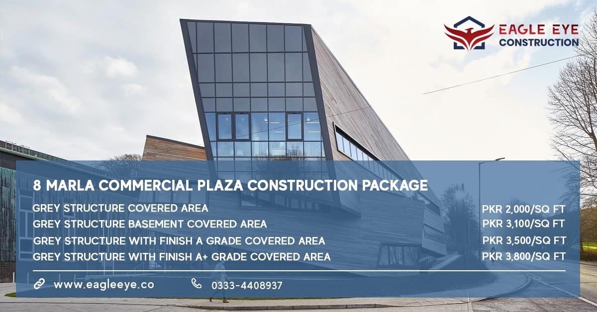 8 marla commercial plaza design and construction cost